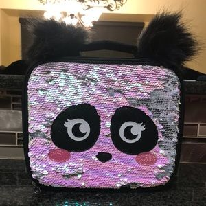 Justice Panda Flip Sequin Lunch Tote